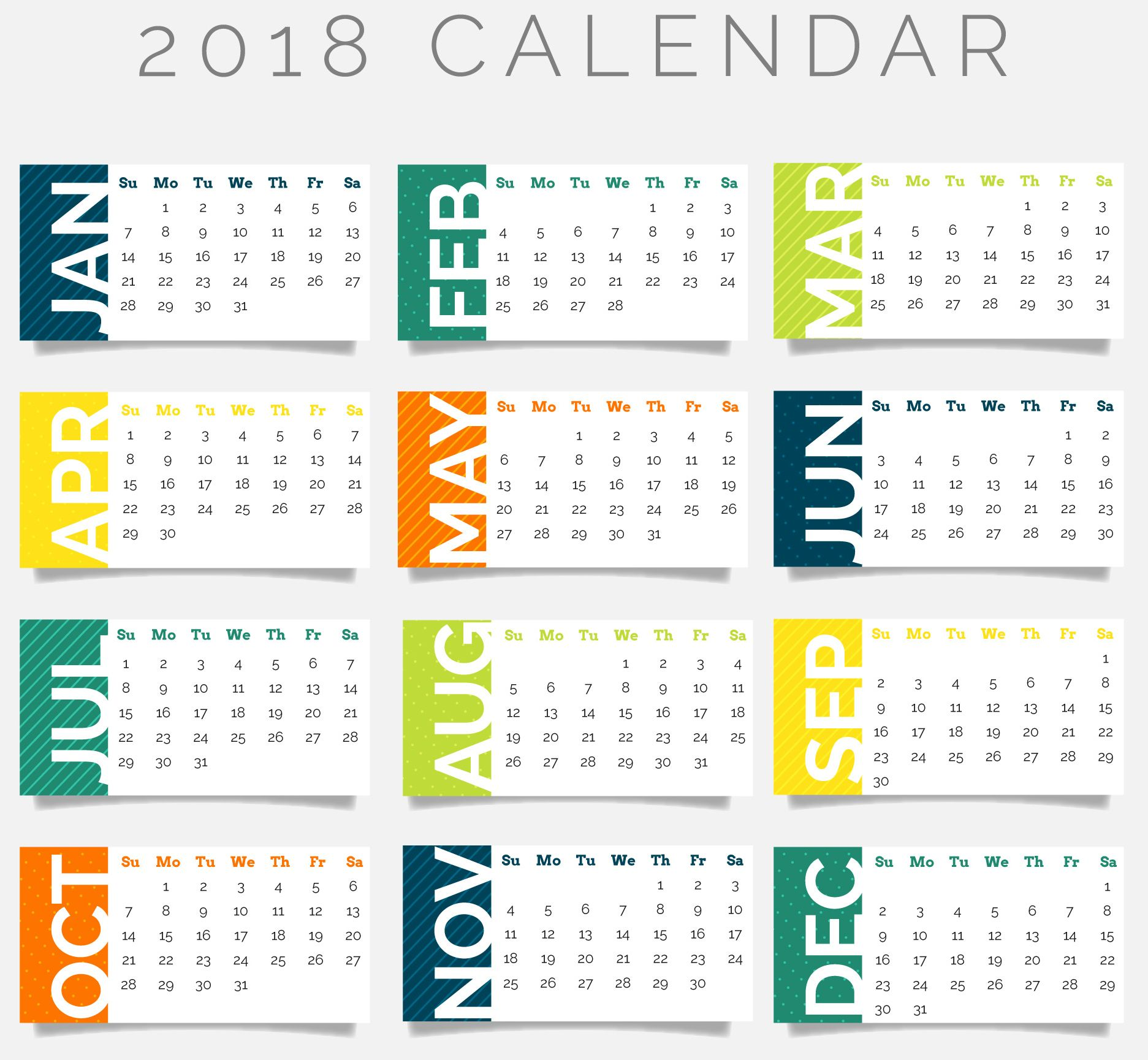 2018 Calendar Wallpapers - WallpaperSafari