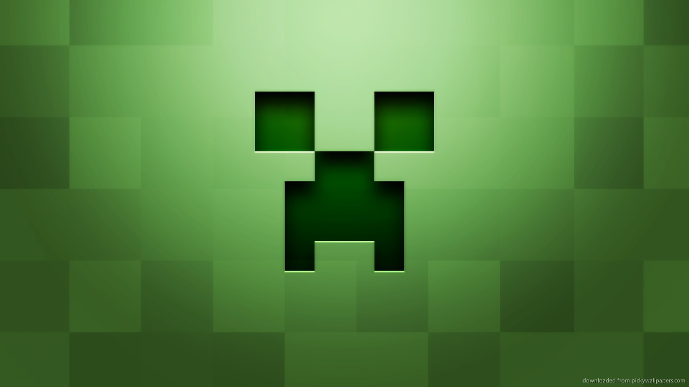 project description here s an epic minecraft wallpaper of a creeper 1366x768