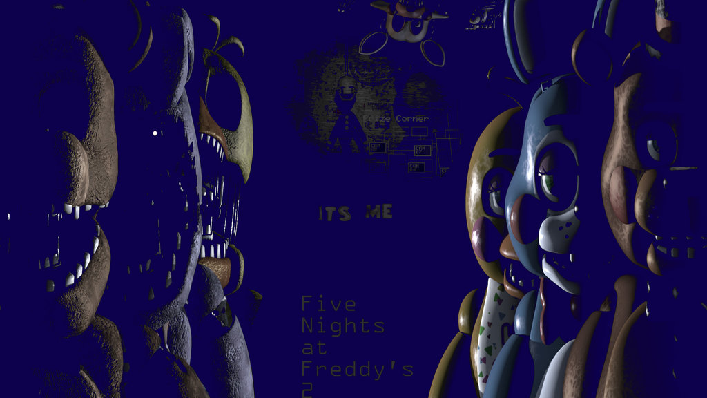 FNAF 2 Blue Wallpaper by ScarsToupe 1024x576