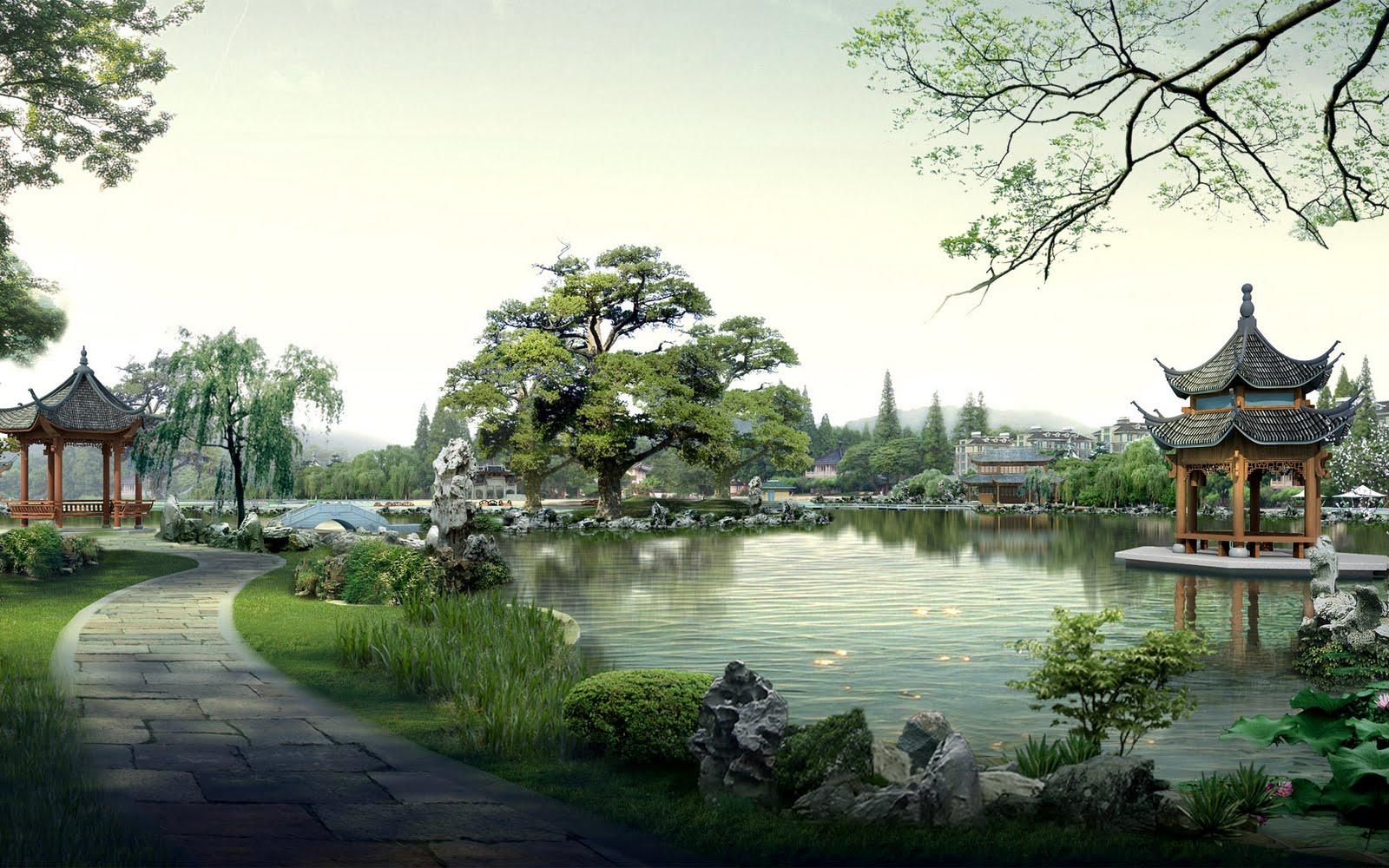 chinese landscape wallpaper asian landscape wallpaper digital asian 1600x1000