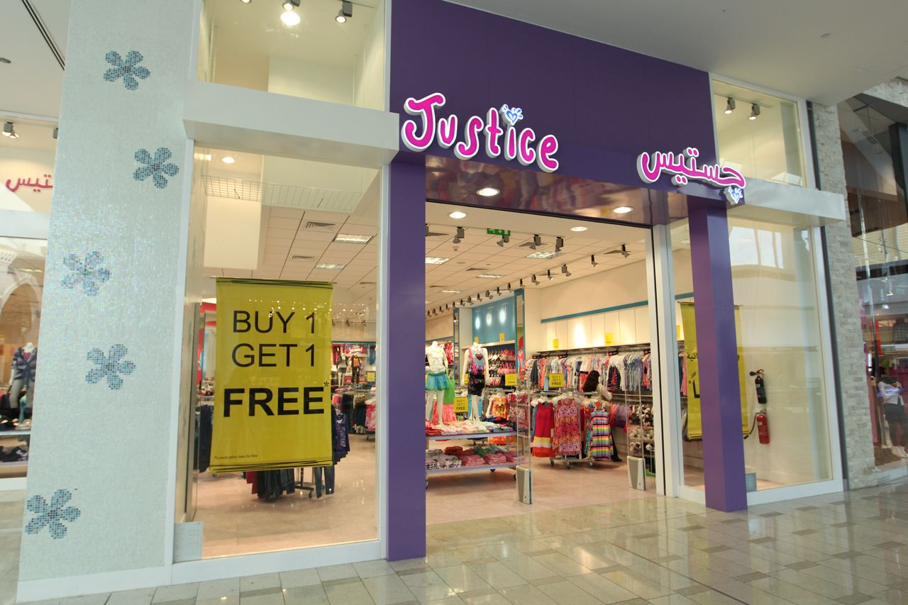 Justice clothing store for girls