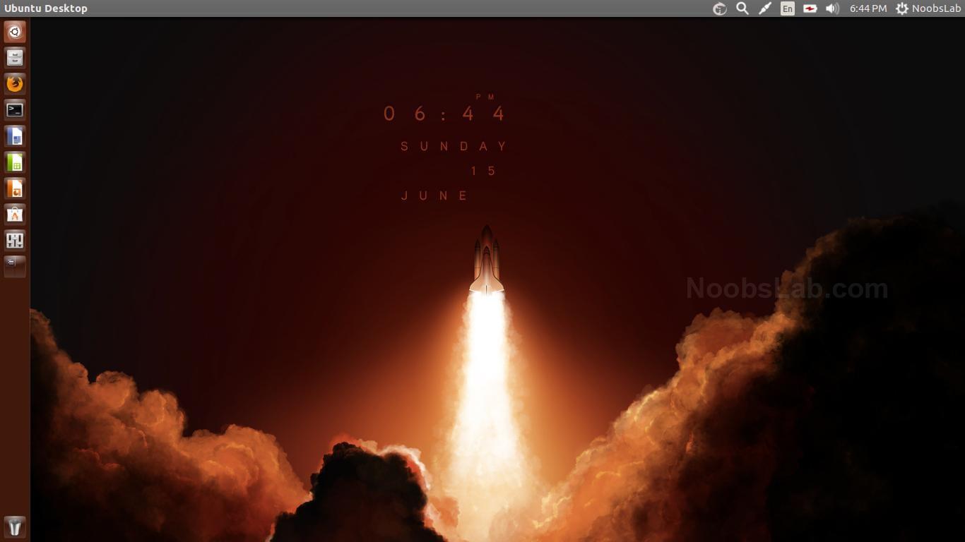 Clock Wallpaper Live Web Features Install in UbuntuLinux Mint 1366x768