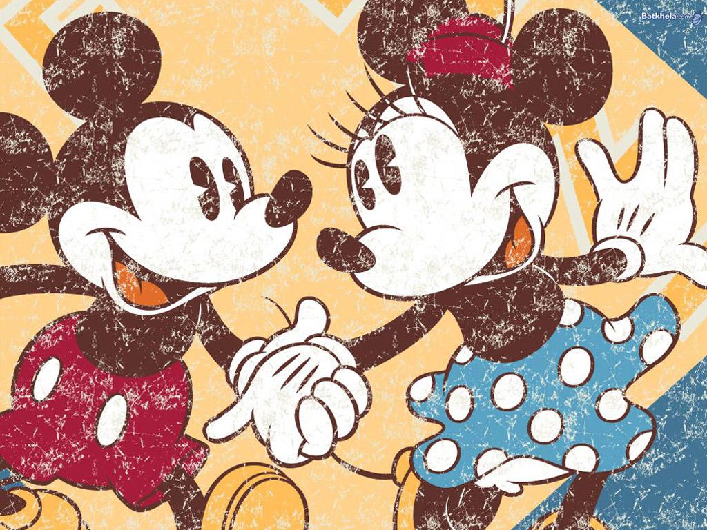 mickey n minnie   Childhood Memories Wallpaper 250720 1024x768
