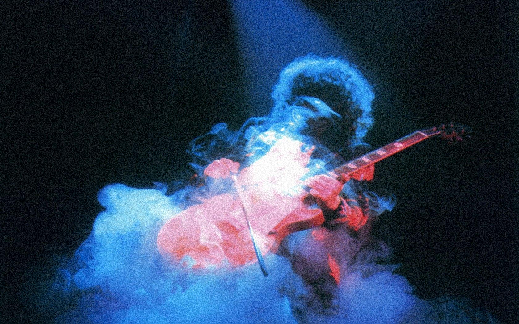 Smoke Jimmy Page musican wallpaper 1680x1050 307415 WallpaperUP 1680x1050