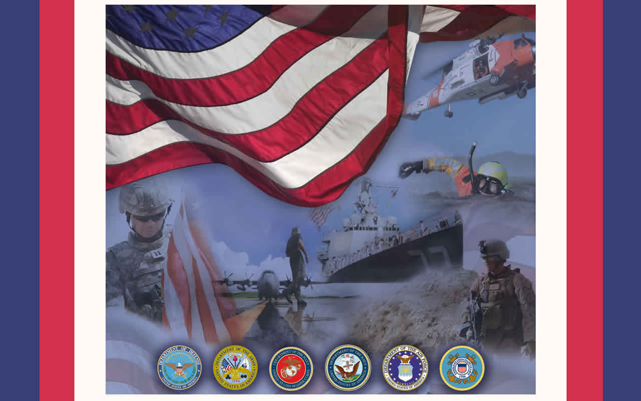 United States Armed Forces theme computer desktop background wallpaper 1280x800
