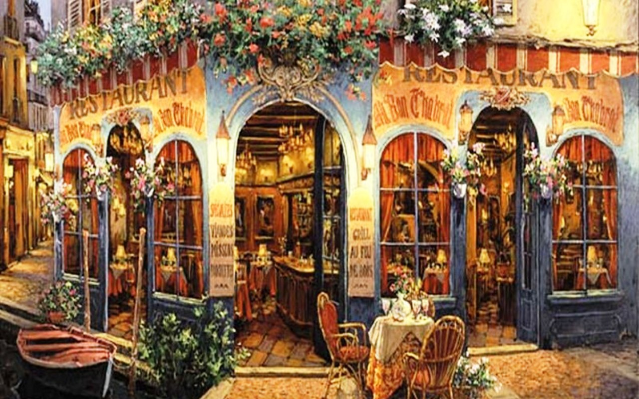 Paris Cafe Wallpaper Wallpapersafari