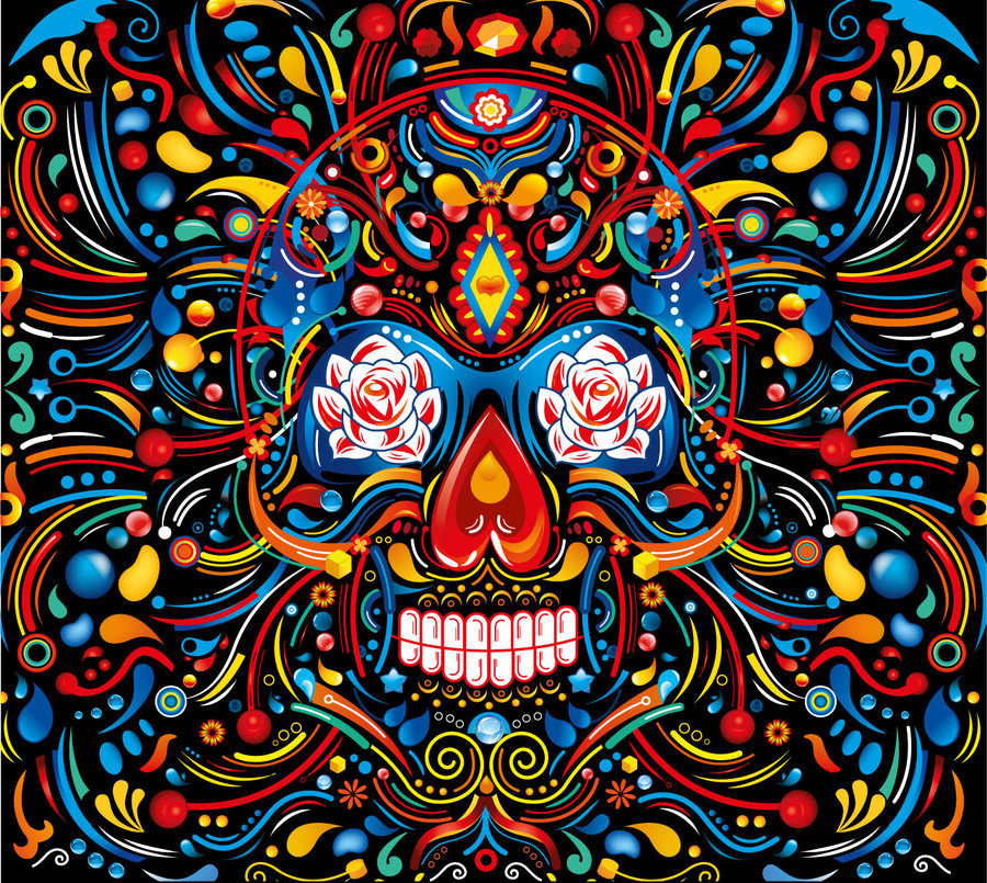Mexican Skull Wallpaper Wallpapersafari