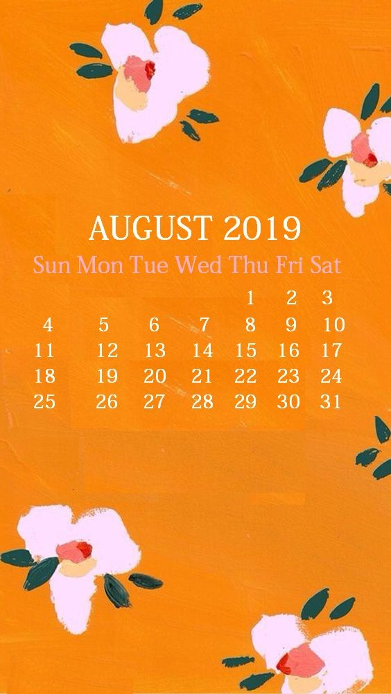 Cute iPhone August 2019 Calendar Background 250 2019 Calendars 564x1001
