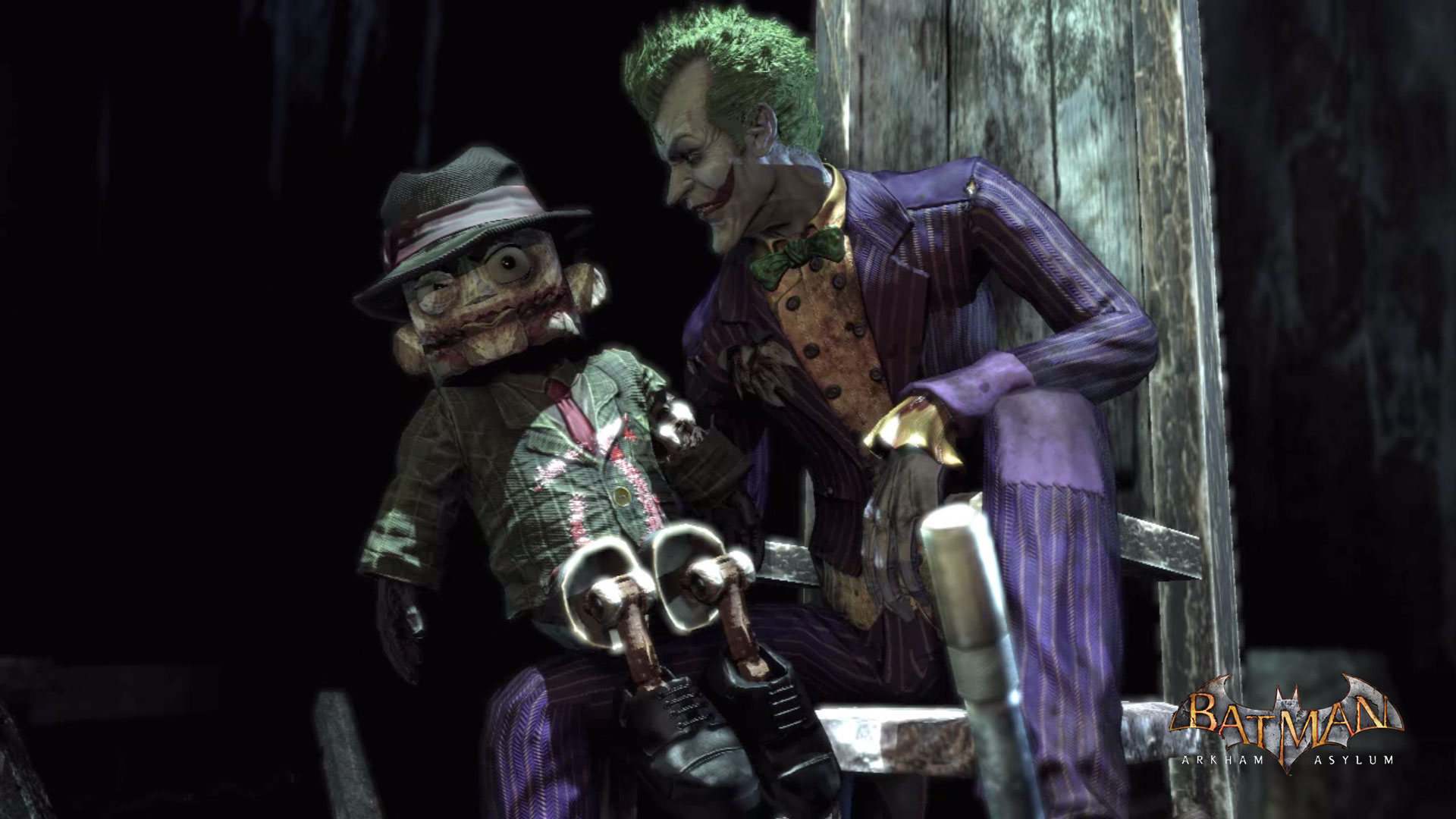 Batman Arkham Asylum   Joker Scarface puppet   1920x1080   Full HD 1920x1080