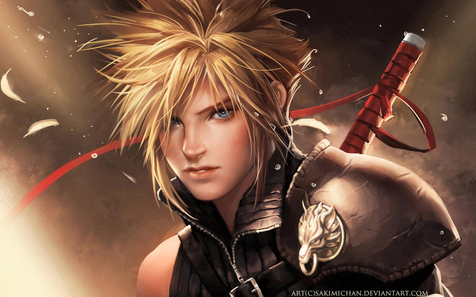 Final Fantasy VII Fan Art   Cloud Strife 1600x1000
