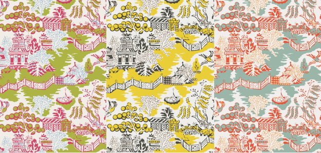 New from Thibaut Enchantment Wallpaper Collection The Color House 625x299