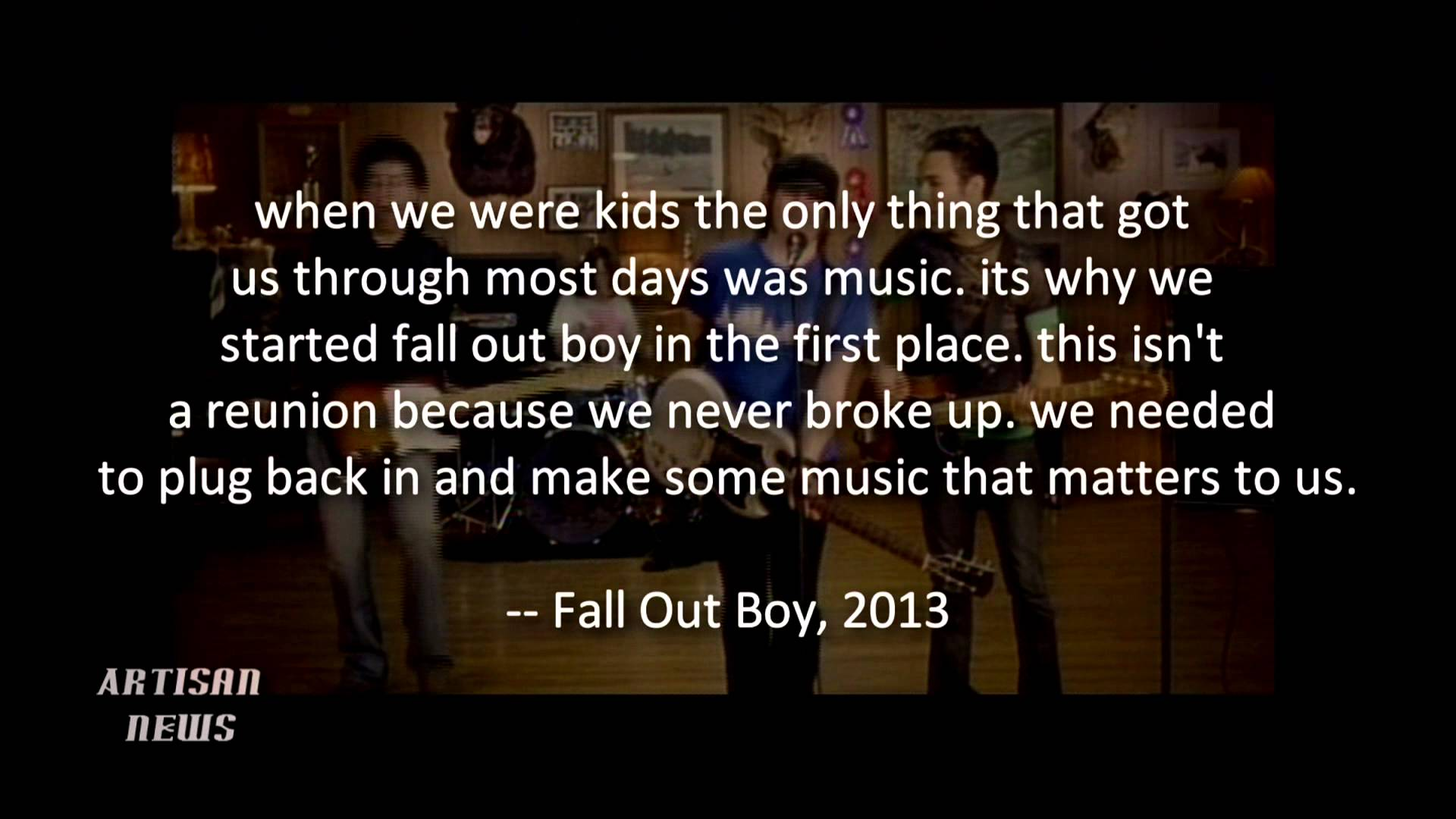 Fall Out Boy Song Quotes Save Rock And Roll | www.imgkid ...