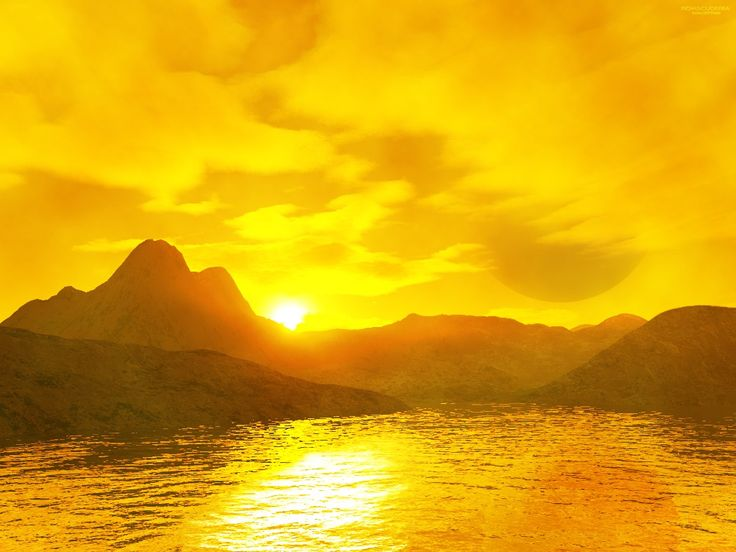 Yellow Sunset At the End of the Dayred blue green or yellow 736x552