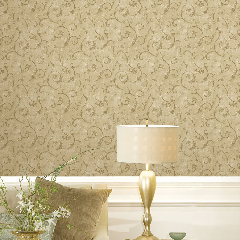 PVC rural leaf wallpaper damask decor wall wallpaper for walls 800x800