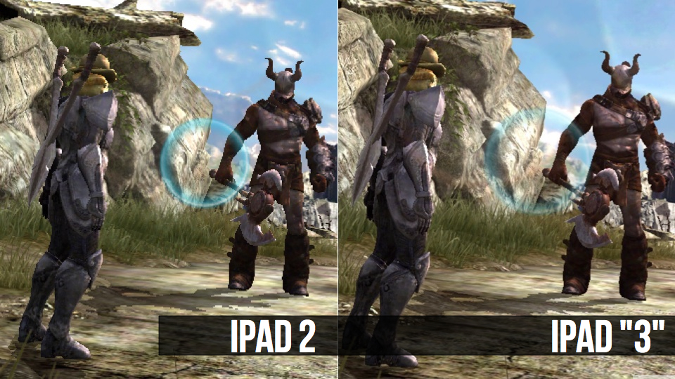 Heres Infinity Blade II Running on an iPad 2 and an iPad 3 960x540