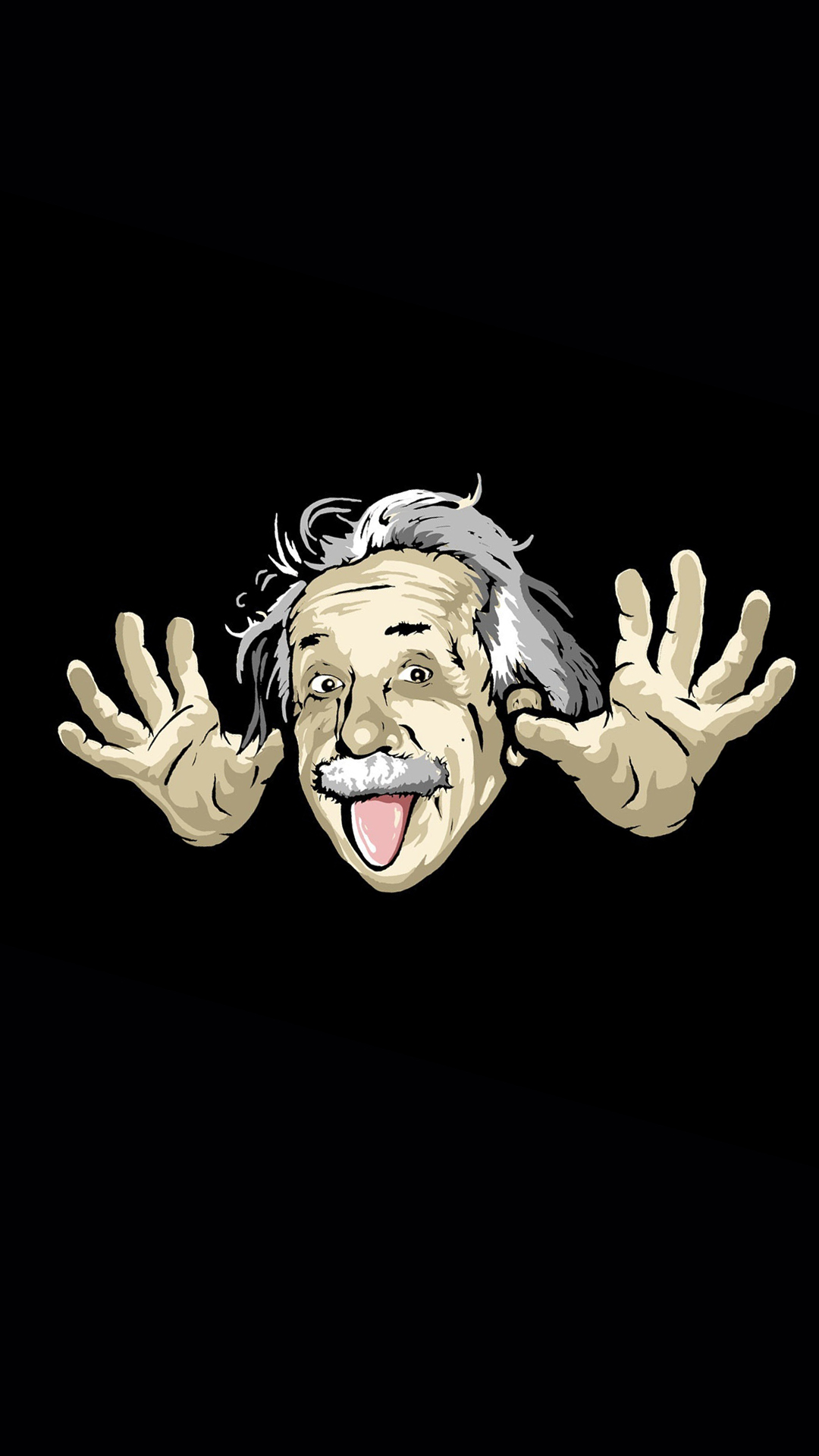 Albert Einstein Cartoon Wallpaper