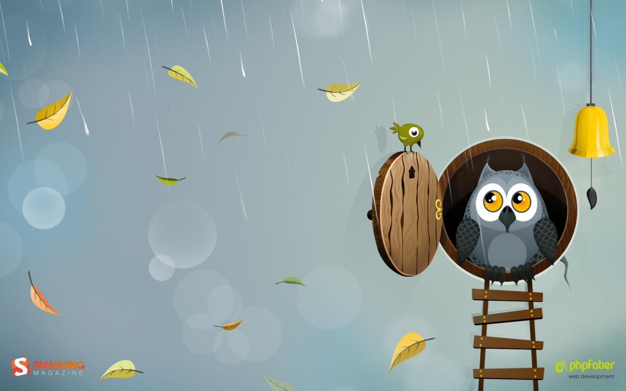 49 Cartoon Owl Desktop Wallpaper On Wallpapersafari