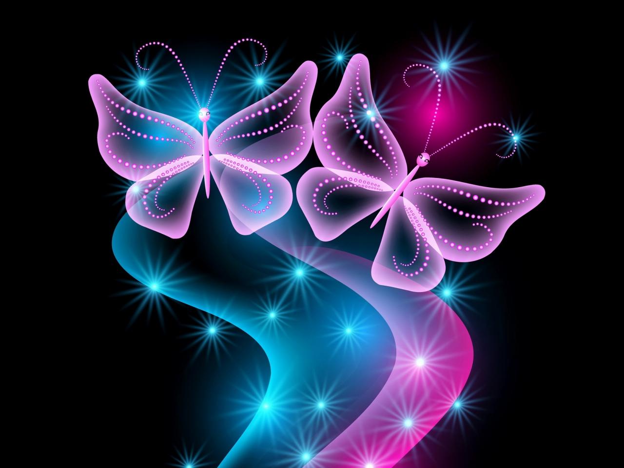 neon Bilder Schmetterlinge Hintergrundbilder abstrakte Vektor helle 1280x960