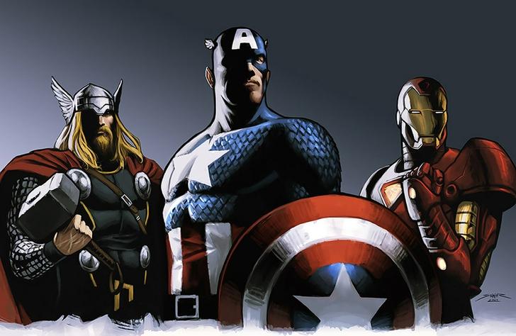Captain America And Thor Wallpaper Wallpapersafari