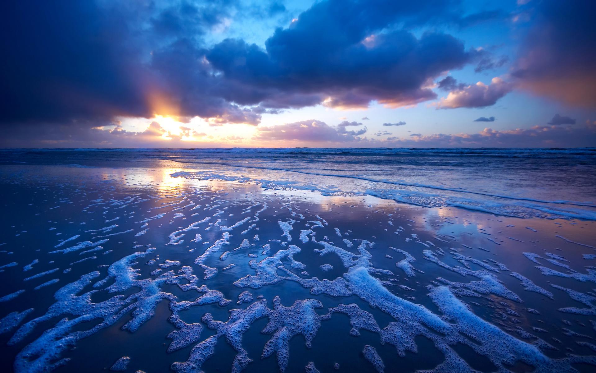 Sunset waves wallpaper   Beach Wallpapers 1920x1200