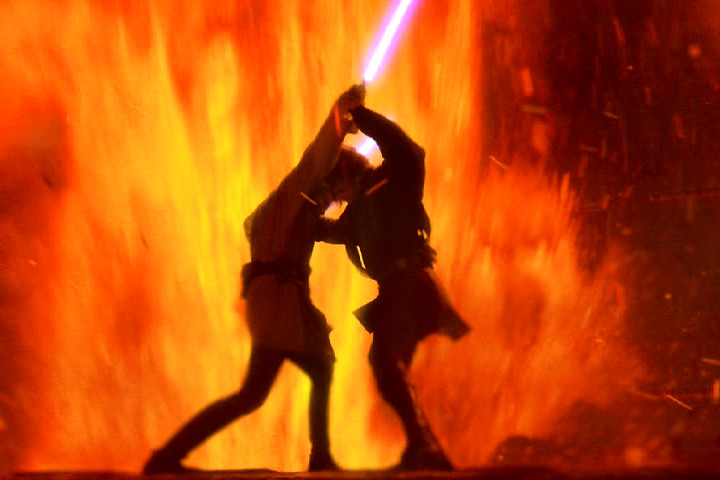 Anakin vs Obi Wan by SithJammies 720x480