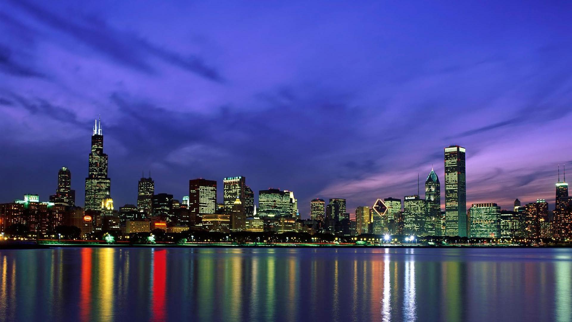 48 Chicago Skyline Desktop Wallpaper On Wallpapersafari
