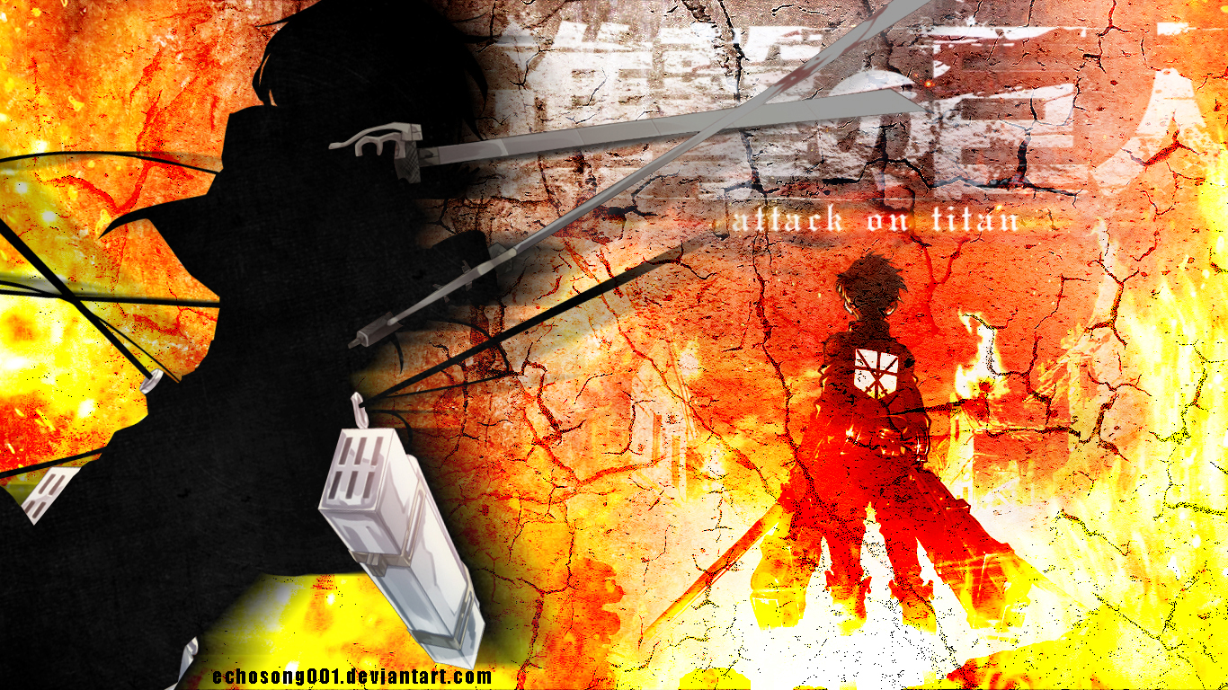 Attack on Titan Wallpaper I 1366x768 by echosong001 1366x768