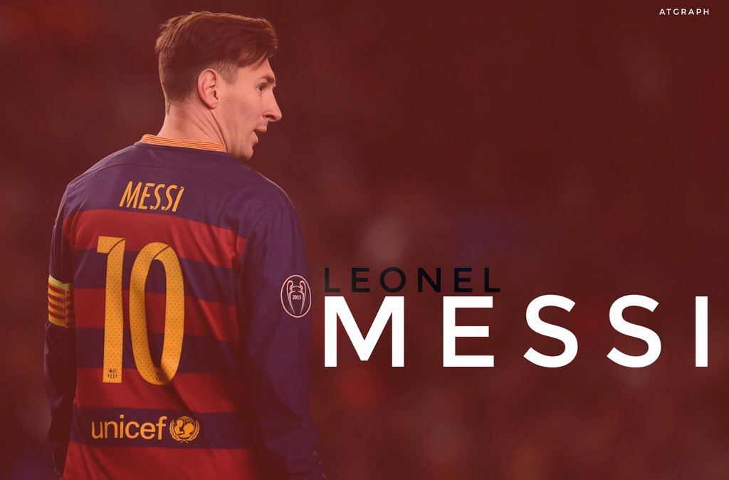 Lionel Messi Wallpaper HD 201617 by ATGraph 1024x674