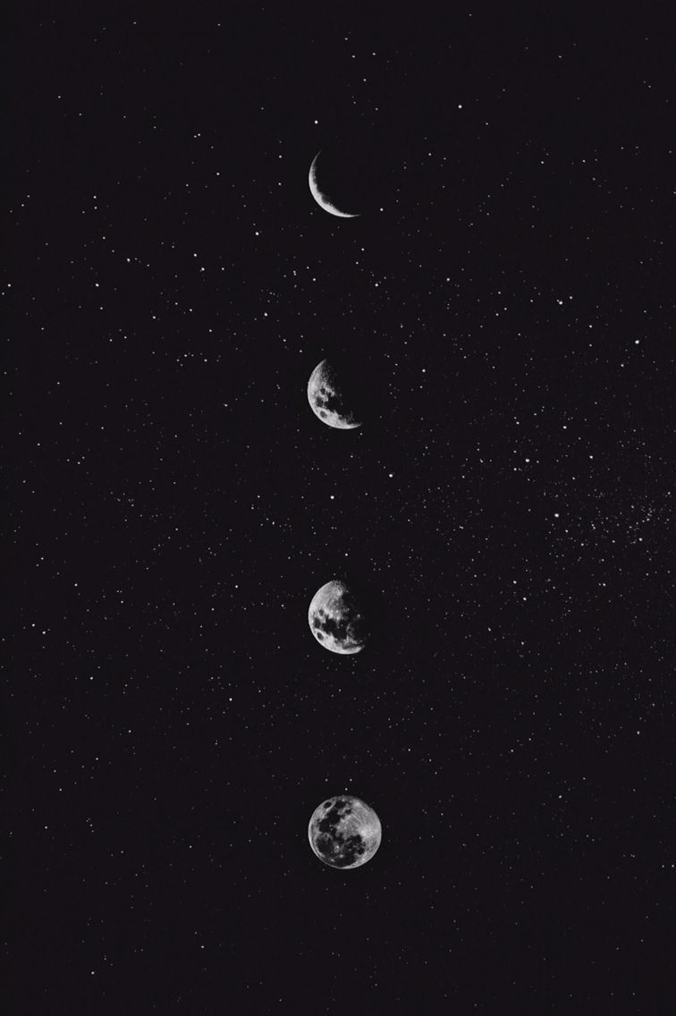 Aesthetic Moon Wallpaper With images Black aesthetic wallpaper 756x1136
