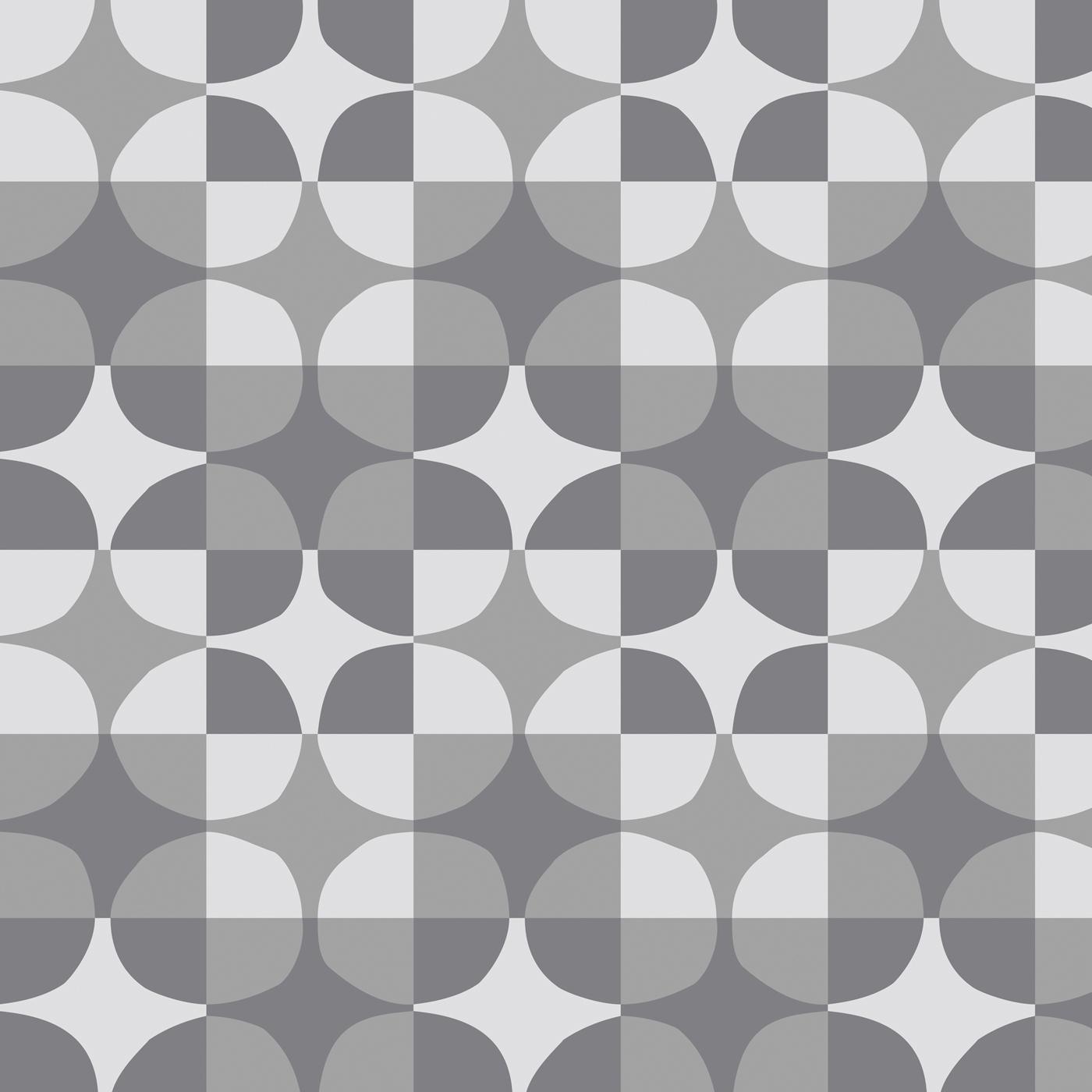 FunMozar Geometric Wallpaper In Gray 1400x1400