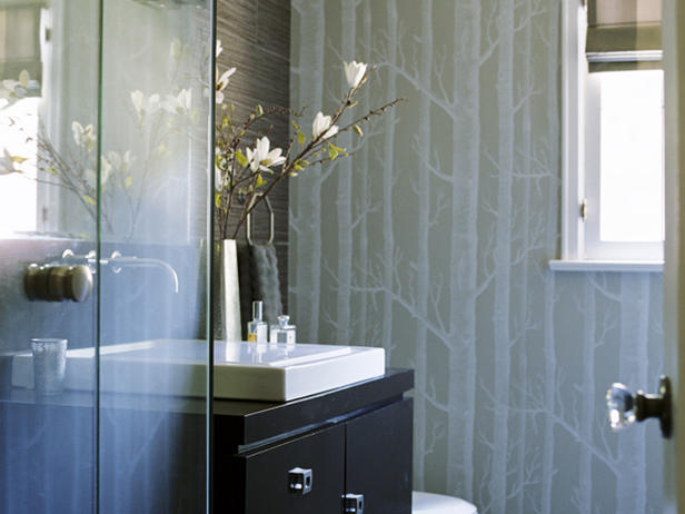 contemporary bathroom wallpaper 2015   Grasscloth Wallpaper 616x462