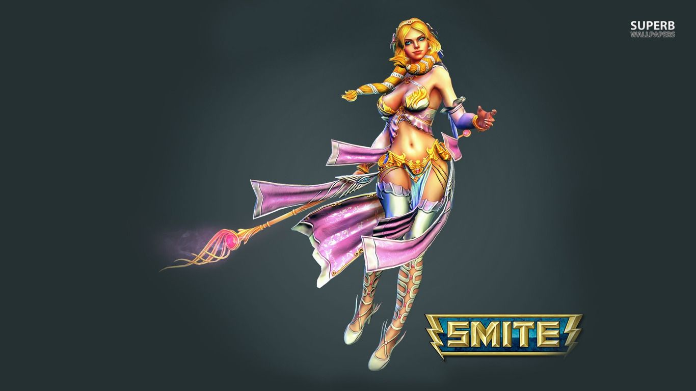 Aphrodite   Smite wallpaper   Game wallpapers 1366x768