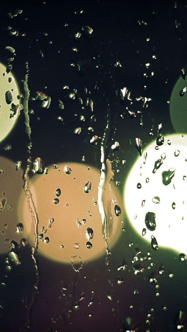 Raindrops On Glass iPhone 5s Wallpaper iPhone 5SE Wallpapers 640x1136