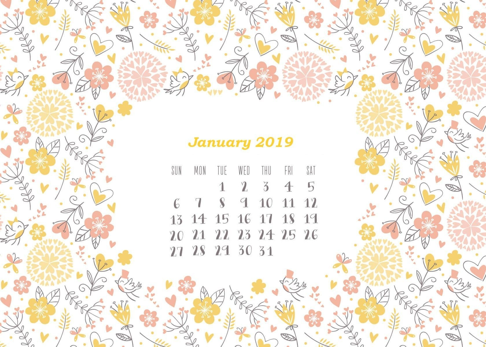 New Year 2019 Calendar Images Photos Wallpapers New Year Time 1680x1200