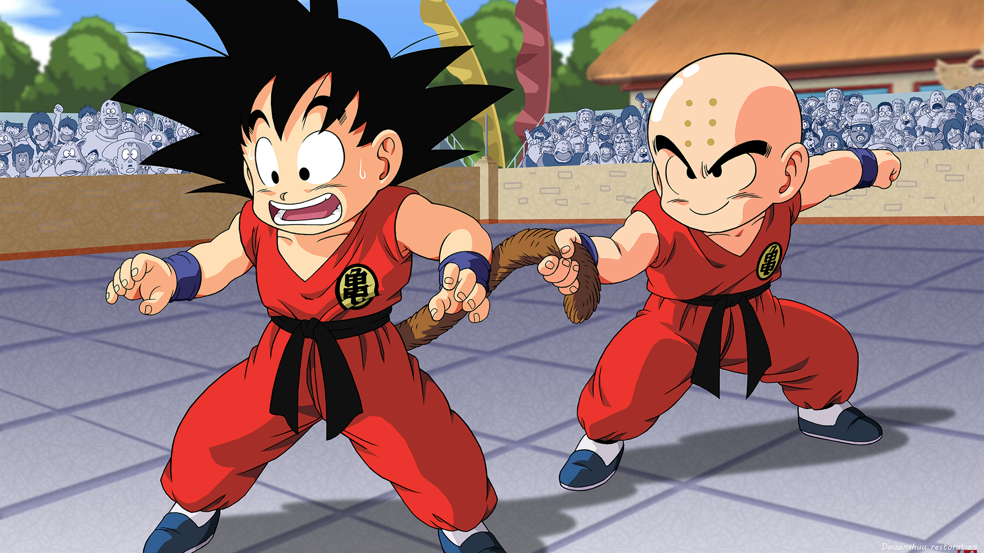 Goku vs Krillin Full HD Wallpaper and Background 1920x1080