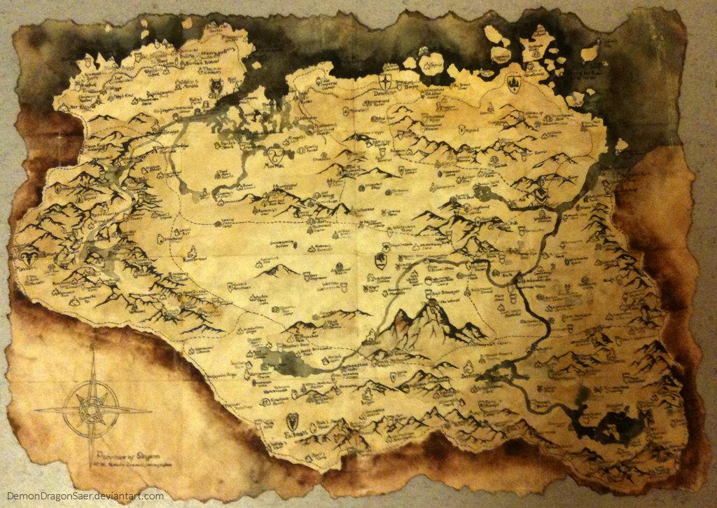 Skyrim Road Map 78738 | TIMEHD