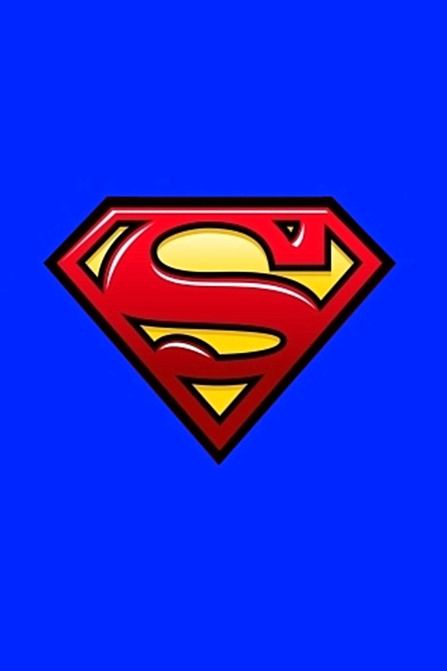 Download for iPhone logos wallpaper Superman 640x960