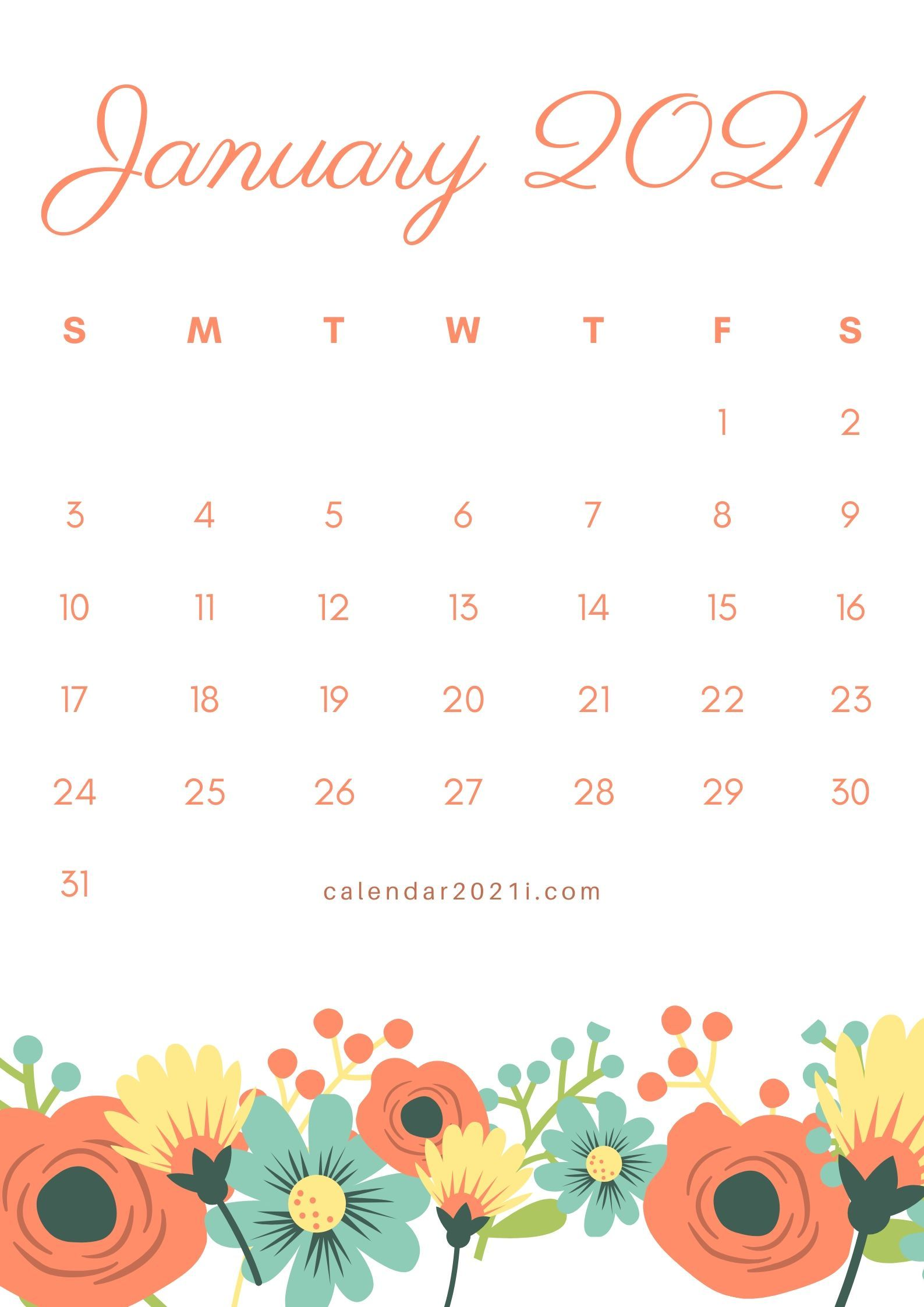 January 2021 Calendar Wallpapers 1587x2245