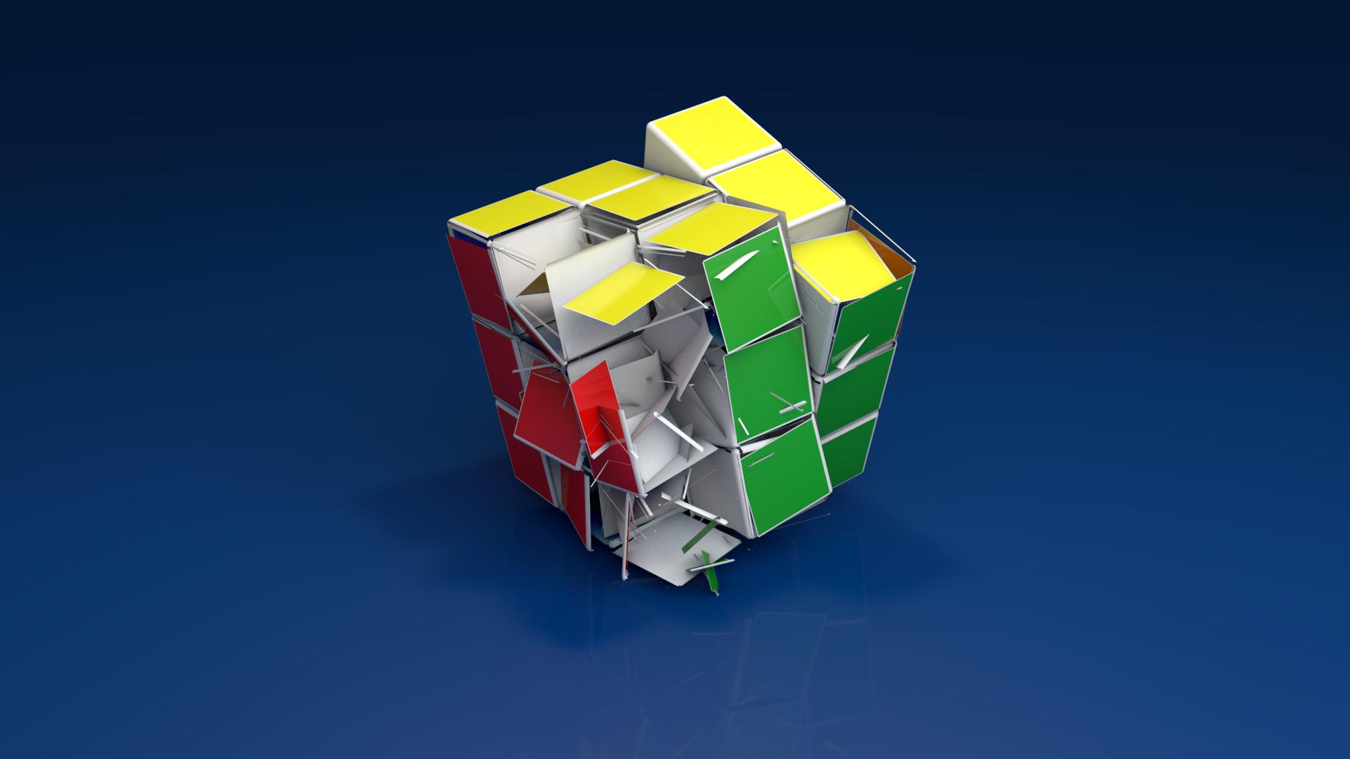 Destruction of a Rubiks cube wallpaper[1920x1080] fc03deviantart 1920x1080