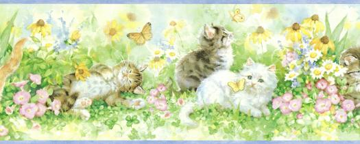 Kittens Wallpaper Border   Wallpaper Border Wallpaper inccom 525x211