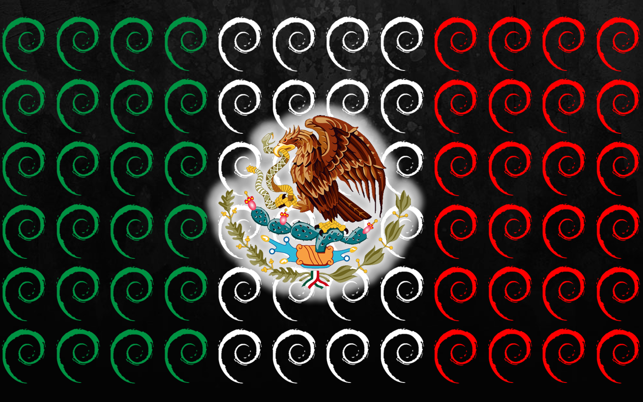 Mexican Pride Backgrounds Wallpaper debian mexico by 1280x800