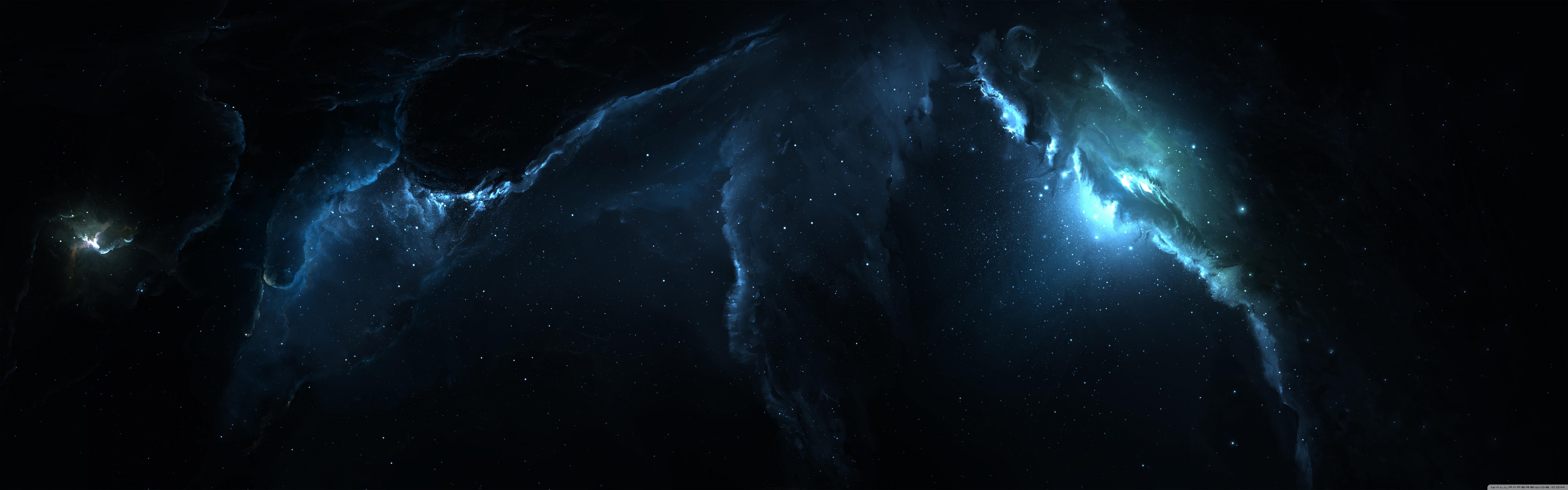 Nebula 3 Dual Monitor Wallpaper Full HD [7680x2400]   wallpaper 7680x2400