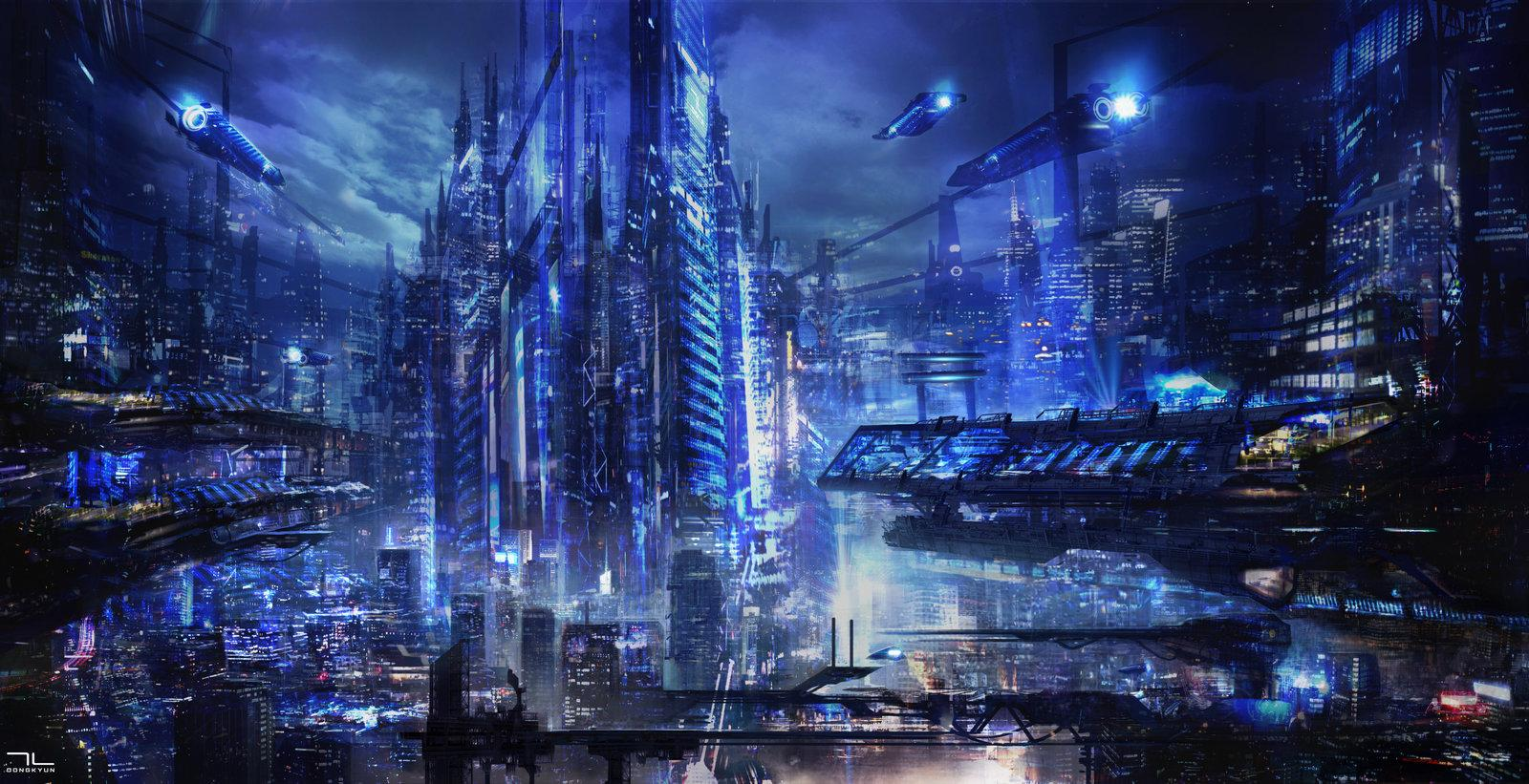HD Future City Wallpaper