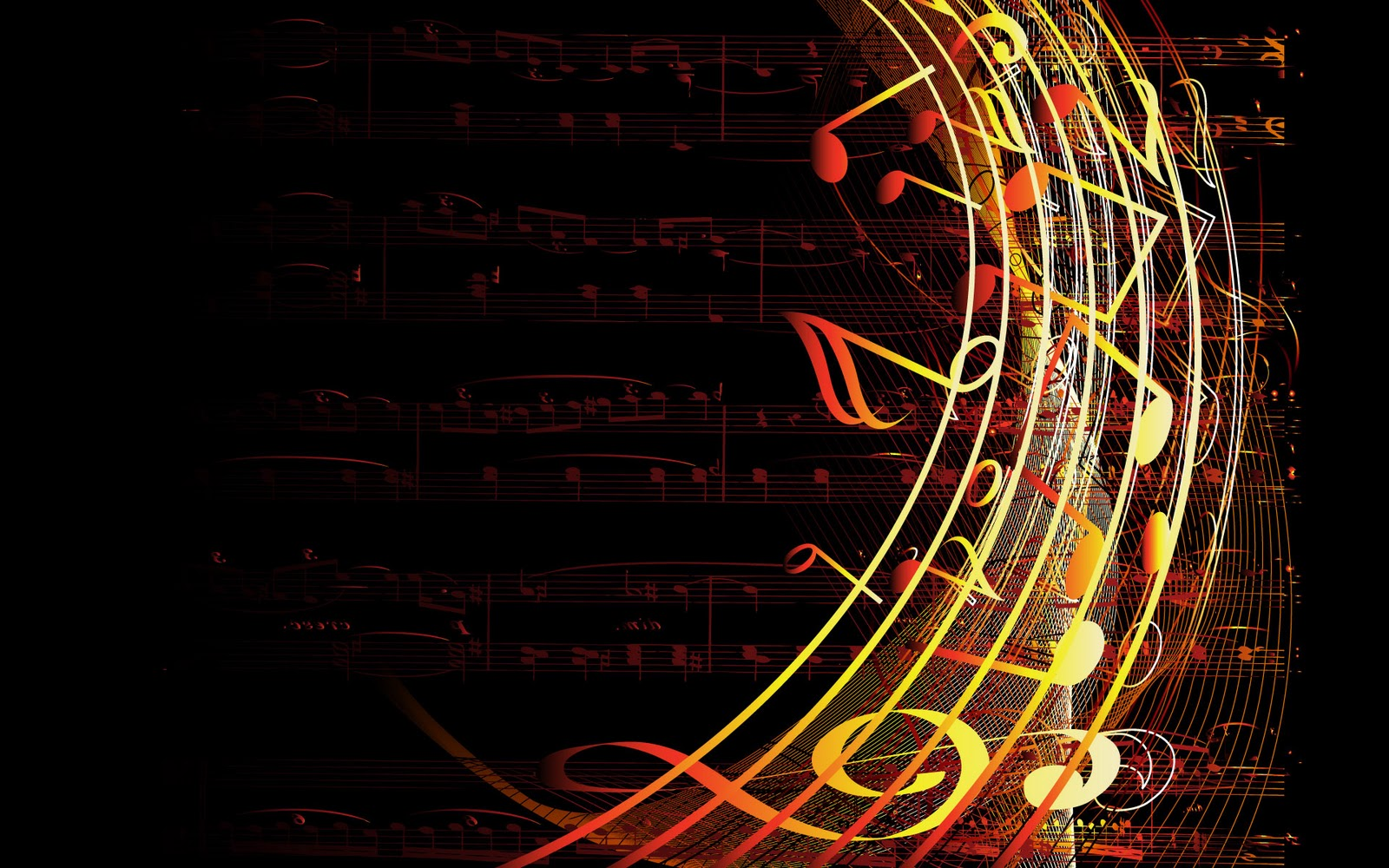 Musical Notes Abstract Wallpaper on this Abstract Graphic Wallpaper 1600x1000