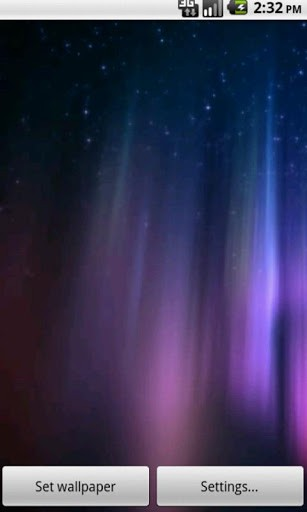 Aurora Borealis Live Wallpaper App for Android by Super Dream Live 307x512