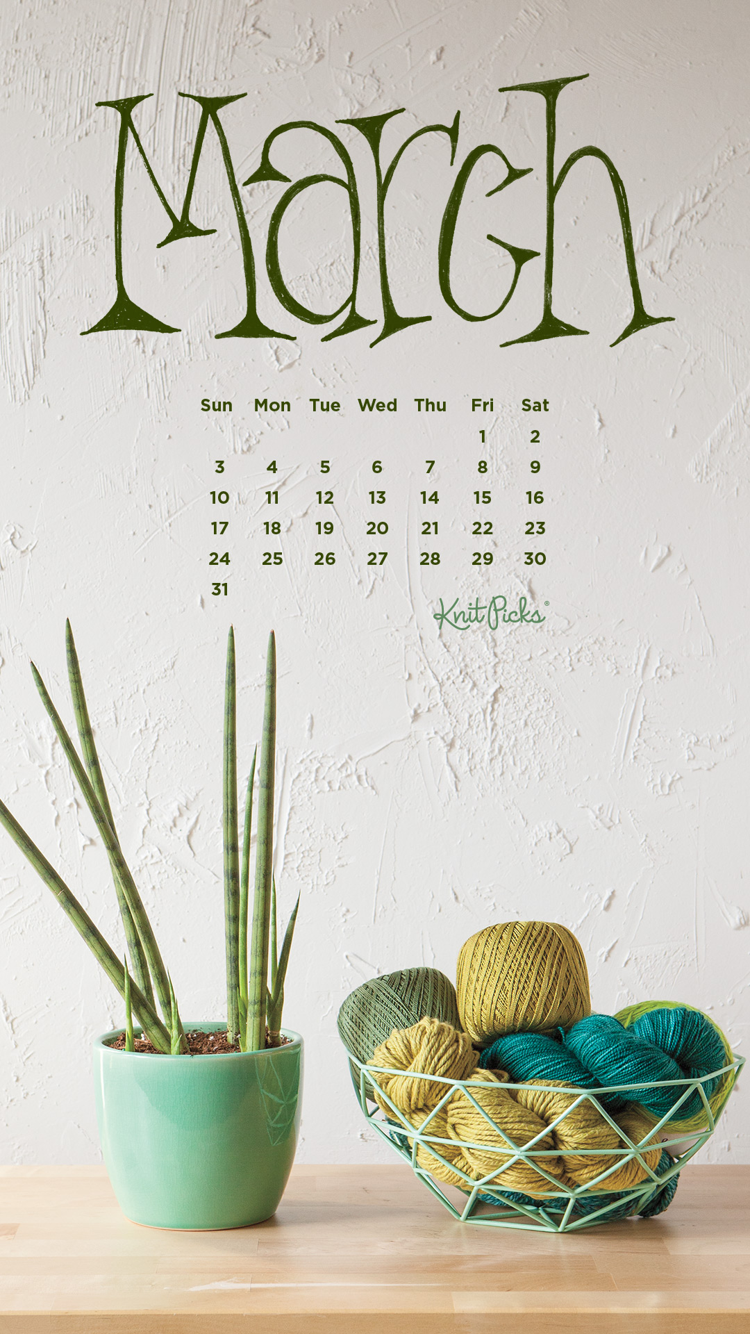 Downloadable March 2019 Calendar   KnitPicks Staff Knitting Blog 1080x1920