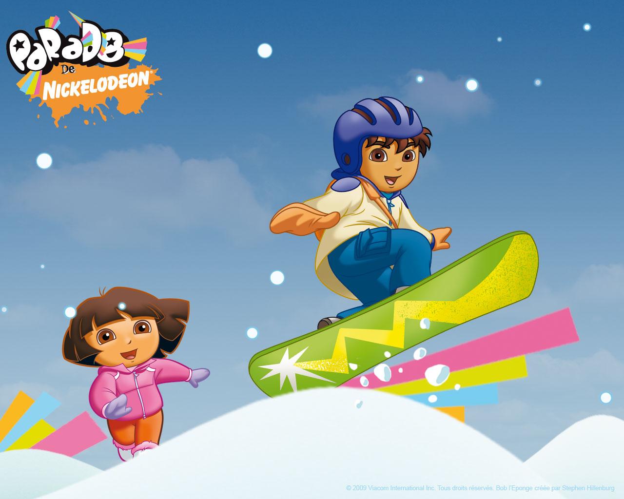 Go Diego Go Snowboard Wallpaper   Go Diego Go Wallpaper   Cartoon 1280x1024