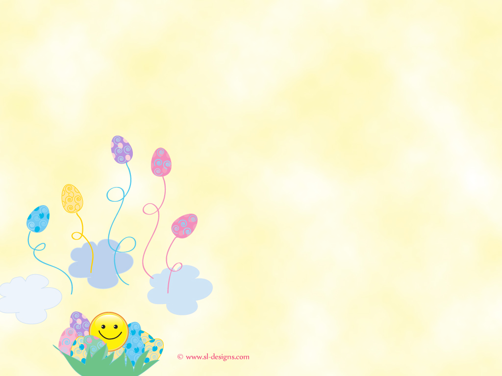 Easter Desktop Wallpaper  easter eggs and smiley 1024x768