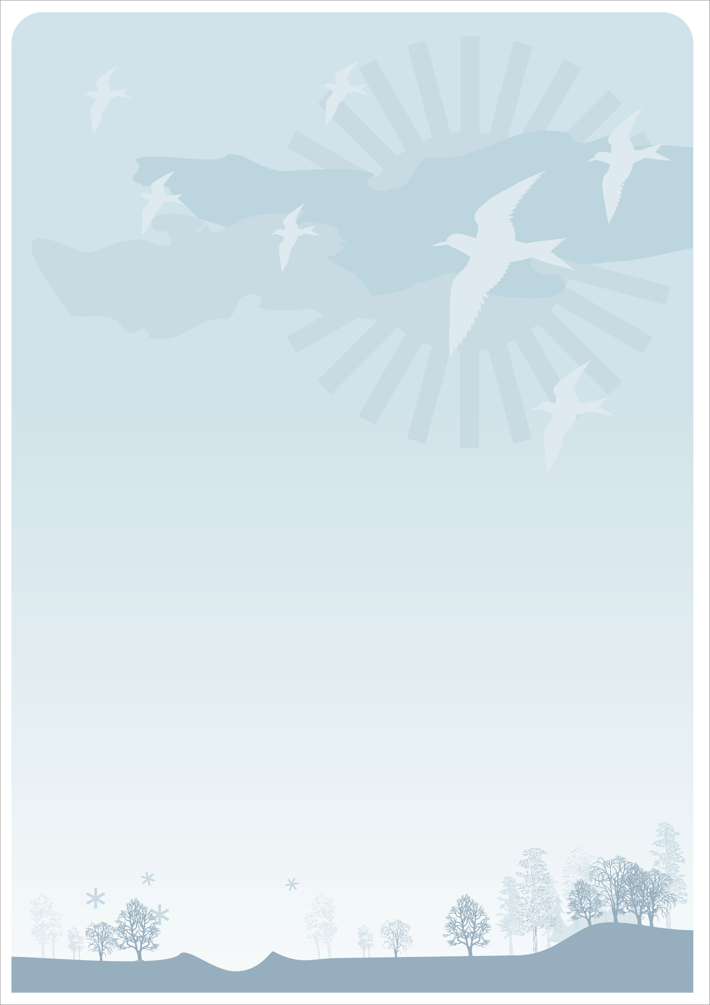 Letter Background Birds by leboef 2480x3507