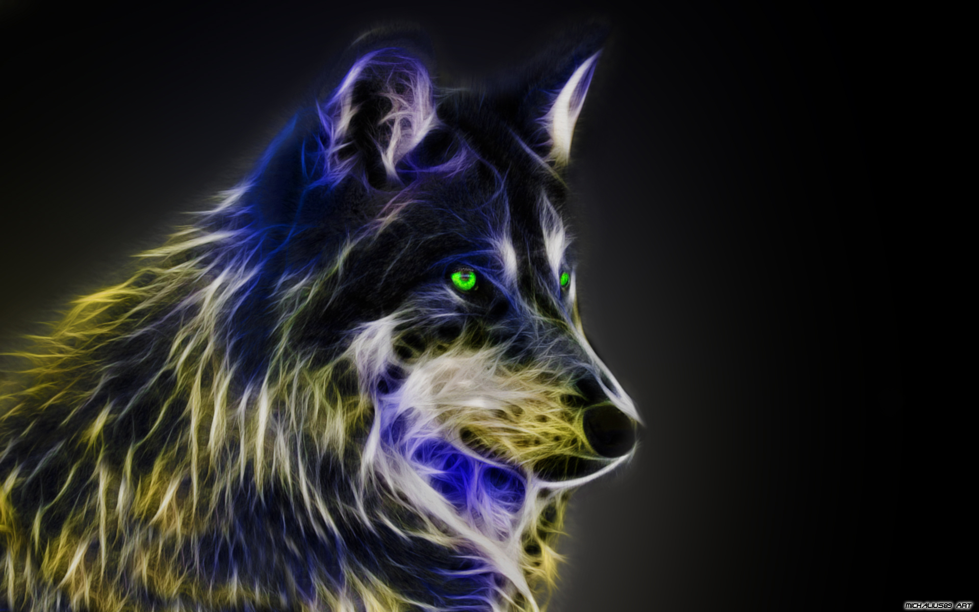 Free Download Cool Wolf Wallpaper Light Fractal Wolfby Michalius89 1920x1200 For Your Desktop Mobile Tablet Explore 49 Cool Pictures Of Wolves Wallpapers Cool Wolf Wallpapers Wolf Images Free Wallpaper